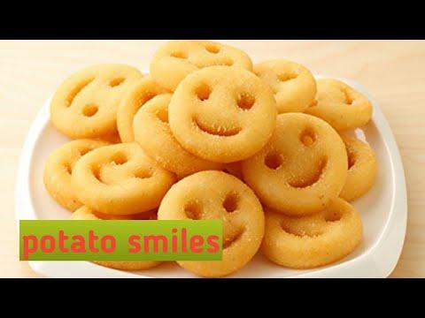 Patato smilies| Patato chips|How to make potato smilies| How to make potato chips|Sonia Dsouza