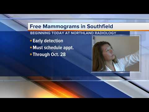 Free mammograms in Southfield today