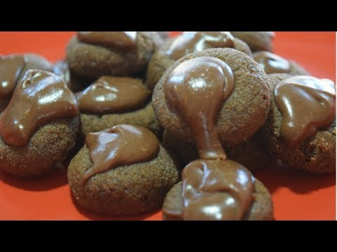 Chocolate Button Drop Cookies