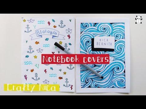 Hand Drawn Notebook Cover Cat Design Notebook Cover Design Ideas