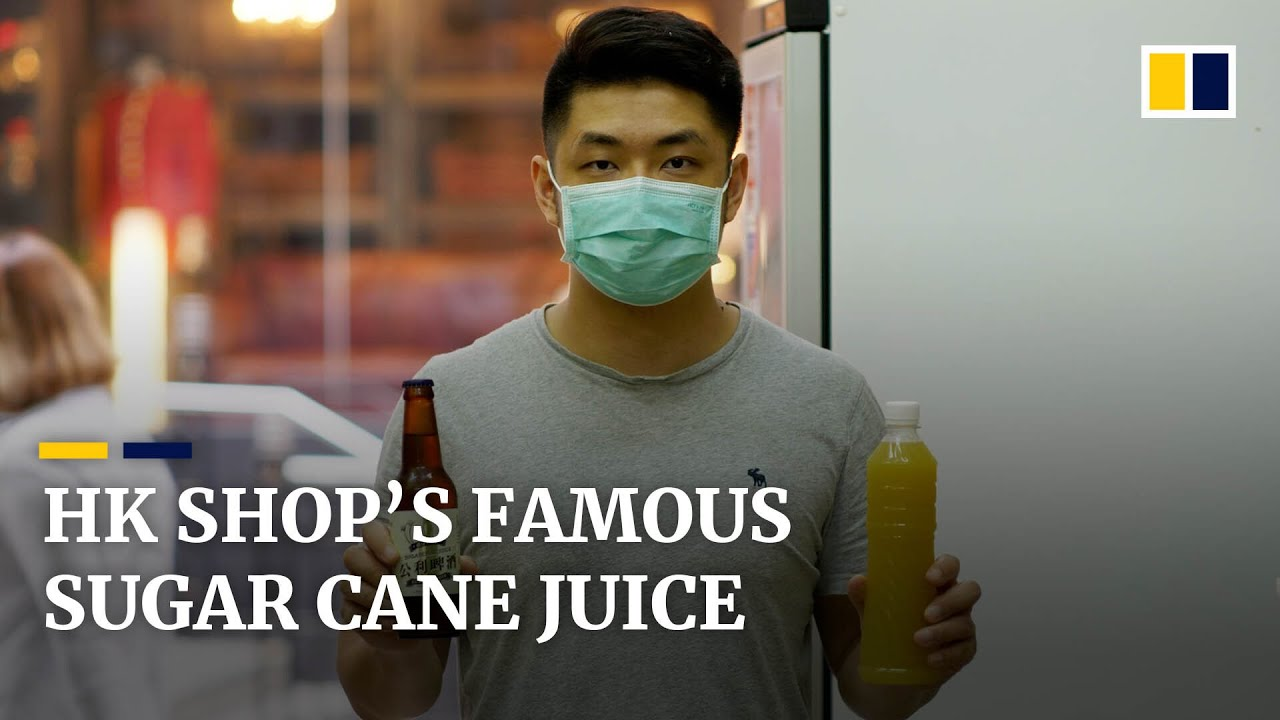Shop selling traditional sugar cane juice quenching Hong Kong thirst for 70 years