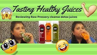 Detox And Cleansing Juice?? | Tasting RAW Pressery Juices| Drink Review|  #FoodDramaWithPoonam