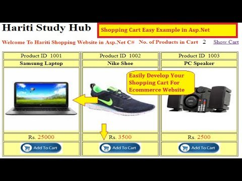 Implement Shopping Cart in Asp.net with Database | Hindi | E-commerce Website | Online Class Free