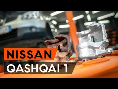How to replacefront brake caliperonNISSAN QASHQAI 1 (J10) [TUTORIAL AUTODOC]