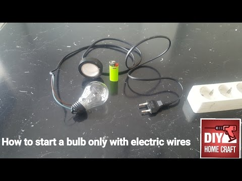 How to power,start a 220v light bulb without the socket, just wires and tape