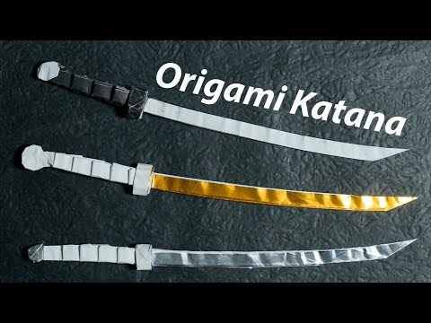 Paper Sword - Origami Katana 4.0 Tutorial - DIY (Henry Phạm)