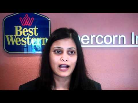 Bharti, a front desk agent, Best Western Abercorn Inn, Vancouver airport, BC