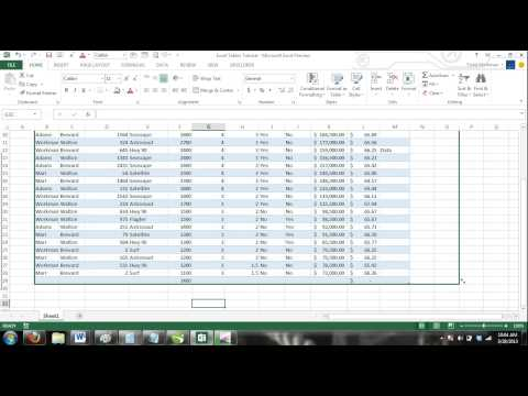 Excel 2013 Tutorial For Noobs Part 35: How to Add and Delete New Excel Table Rows and Columns