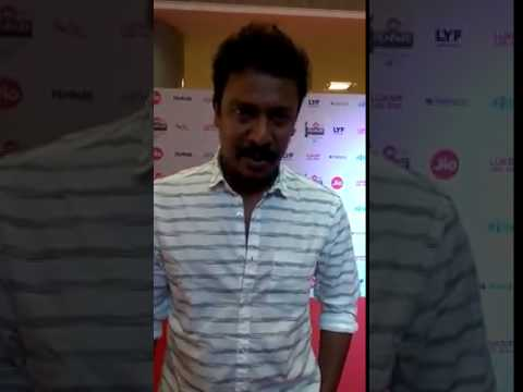 Samuthirakani talks from the red carpet of the Jio Filmfare awards south about his nominations for t