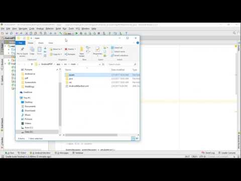 Create assets folder in Android Studio, and copy file into.