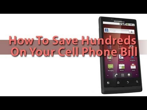 How To Save Hundreds On Your Cell Phone Bill: Use A No Contract, Pre-Paid Phone Service