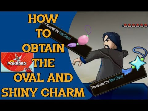 Pokemon USUM | How To Obtain The Shiny Charm | How To Obtain The Oval Charm |