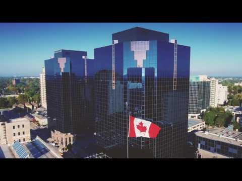Canada Flag Over London