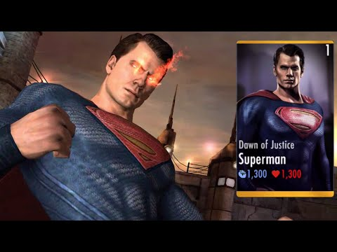 DAWN OF JUSTICE SUPERMAN Super Attacks | INJUSTICE New Character | iOS, Android