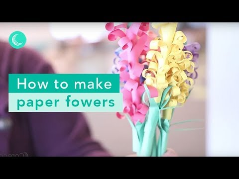 How To Make Paper Flowers - Easy Steps for A Swirly Bouquet
