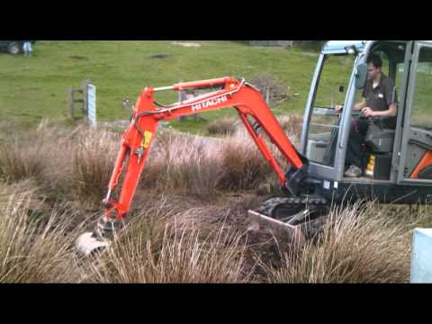 First time on a mini digger, mini excavator