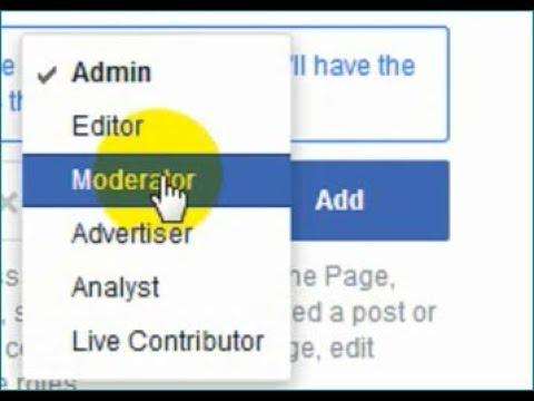 how to make admin in facebook page 2018
