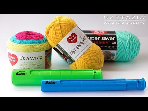 Review of New Red Heart Yarn and Susan Bates Stitch Holder - by Naztazia