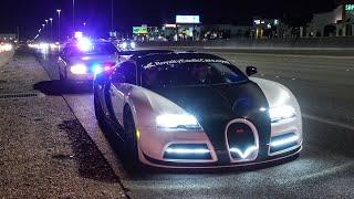 NEVADA STATE POLICE PULLOVER BUGATTI FOR 200 MPH HIGHWAY PULL