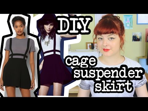 DIY Cage Suspender Skirt | Make Thrift Buy #12
