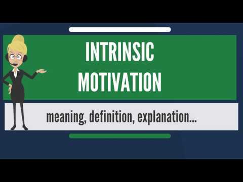 What is INTRINSIC MOTIVATION? What does INTRINSIC MOTIVATION mean? INTRINSIC MOTIVATION meaning