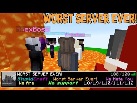 I FOUND THE WORST MINECRAFT SERVER EVER....