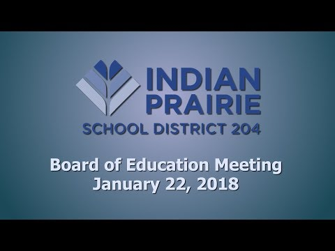 School Board Meeting: 01/22/2018