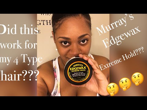 Review on Murray's Edgewax | Low Puff on 4 Type Natural Hair
