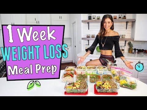 1 WEEK VEGAN WEIGHT LOSS MEAL PREP in 1 hr.