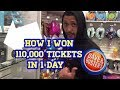 UNBELIEVABLE!!! You won't believe what I won in 1 day at Dave & Busters