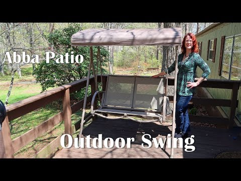 🍀 ABBA PATIO OUTDOOR SWING CANOPY - Porch, Deck, Yard Furniture REVIEW 👈