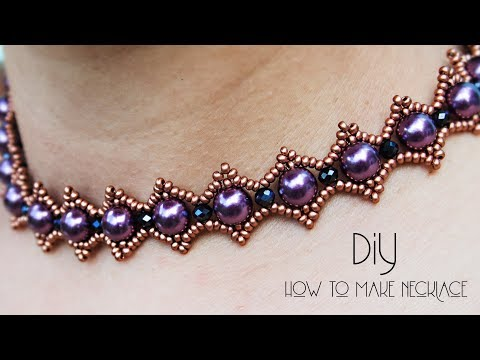 How To Make Necklace | Pearl Necklace At Home | Jewellery Making