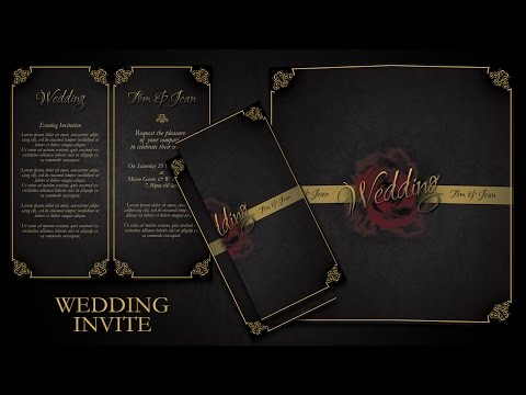 How To Make Simple And Elegant Wedding Invitations In Photoshop