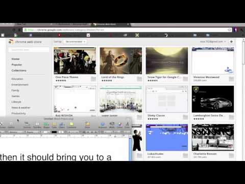 How to change the background for google chrome (mac)