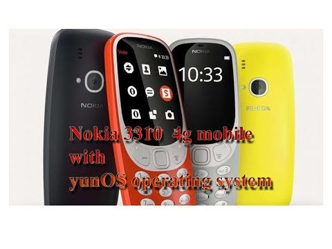 Nokia 3310 4g with yunOS operating system short detail