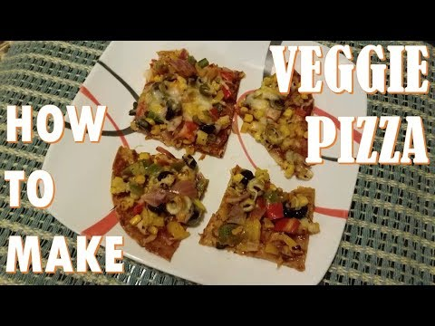 How to Make Homemade Veggie Pizza | Quick & Easy | Indian Style Pizza | Hindi & English