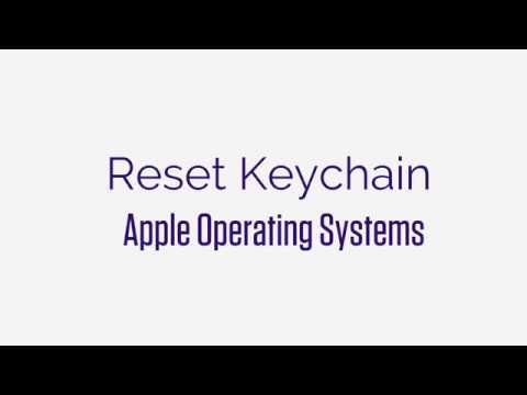Keychain Reset   Mac