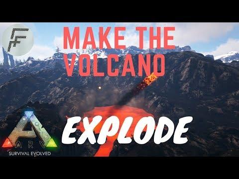 Make the Volcano Explode! - ARK: Survival Evolved