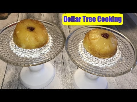 DOLLAR TREE COOKING MINI PINEAPPLE UPSIDE DOWN CAKES