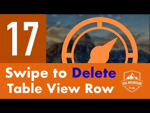 Swipe To Delete Table View Row - Part 17 - Itinerary App (iOS, Xcode 9, Swift 4)