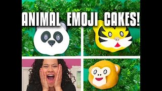 How To Make ANIMAL EMOJI CAKES For EARTH DAY! Go WILD For Banana Cake & Chocolate Buttercream!