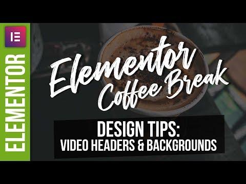 Elementor Video Headers - Wordpress Tutorial 2018