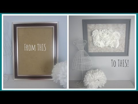 {DIY Decor} From Outdated Frame to Vintage Inspired Art