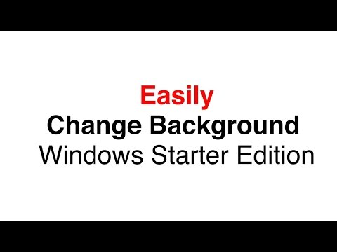 Screen cast Tutorial - How to Change Windows 7 Starter Edition Wallpaper
