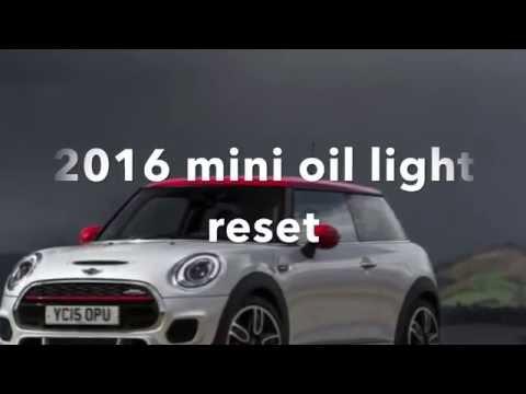 2016 mini cooper oil life reset