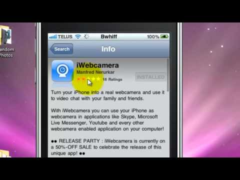 How to turn you iphone into a webcam for skype