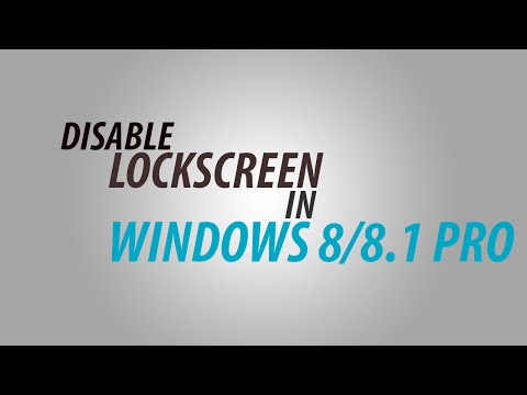Windows Tip: Disable the Display Lock Screen in Windows 8 / Windows 8.1/Windows 10 Pro