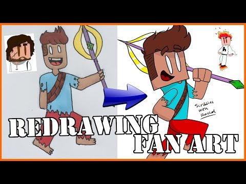 REDRAWING FAN DRAWINGS IN MY ART STYLE 2!
