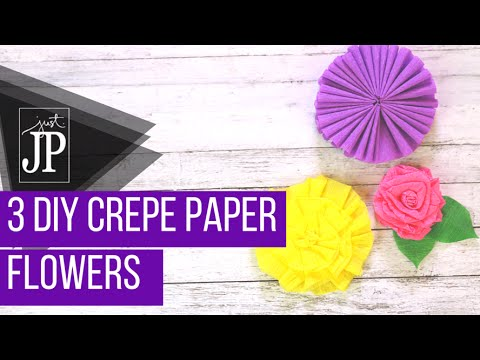 3 DIY Crepe Paper Flowers #CraftCOLLAB