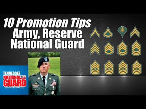 10 Tips to help you get promoted in the Army, Army Reserve, or Army National Guard!